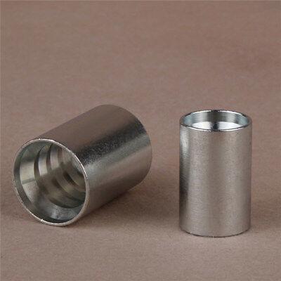 0210-08 Hydraulic Hose End Ferrule. 12 Carbon Steel Crimp Ferrule.