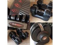 Bodymax Selectabell Dumbbell Pair 5KG - 32.5KG Adjustable Weights, dumbell, dumbel, dumbbells