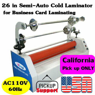Us Stock 26 Semi-auto Small Home Cold Laminator For Business Card Laminating