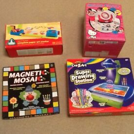 Paper Art Creator, Hello Kitty Mould Maker, Magnetic Mosaic, Super Drawing Station