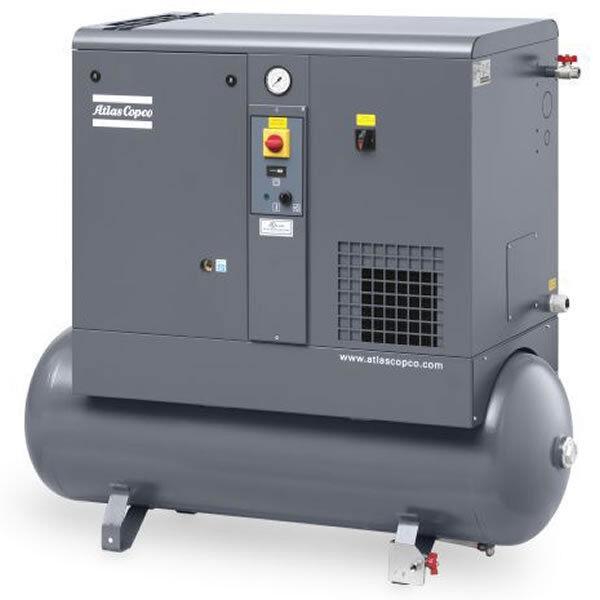Atlas Copco Gx4 5-hp 53-gallon Rotary Screw Air Compressor (208-230/460v 3-ph...