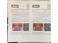 X2 Alton Towers Tickets 08/09/16
