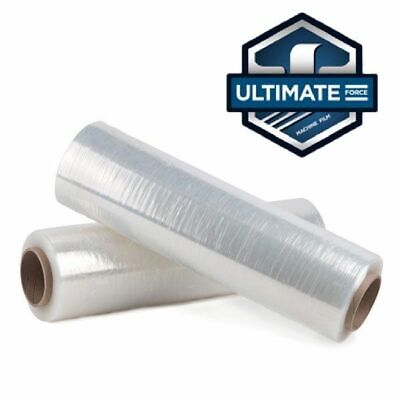 30 X 8000 Stretch Wrap 55 Gauge Ultimate Force Machine Film Pallet Of 20 Roll