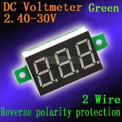 Dc 2.4-30v Green Led Digital Voltmeter Voltage Panel Meter