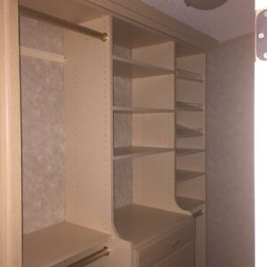 Closet organizer with crown moulding top $325 OBO