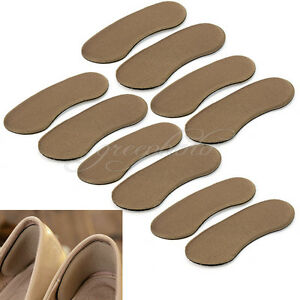 5 Pairs Sticky Shoe Back Heel Inserts Insoles Pads Cushion Liner Grips Foot Care