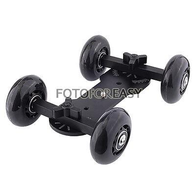 Pro Table Top Dolly Mini Car Skater Track Slider For DSLR Video Film 700D 7D 70D