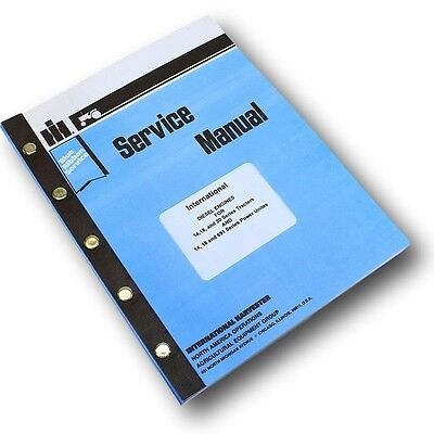 International Td14 Td18 Td20 200 Diesel Engine Crawler Tractor Service Manual
