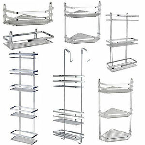 CHROME-SATINA-HANGING-RECTANGLE-CORNER-SHOWER-CADDY-BATHROOM-SHELF ...