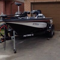 REDUCED!! 20' Nitro a Bass Boat with 150 hp Evinrude