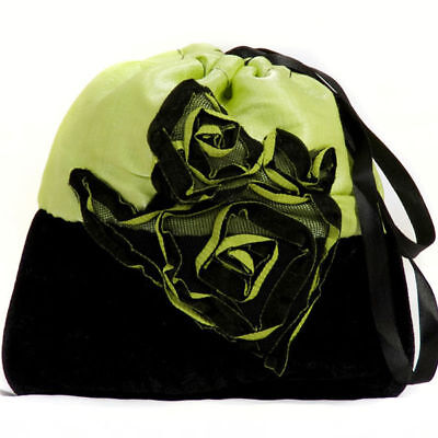 Halloween Costume Accessory Witch Bag:  Your Choice of Lacy Pink  or Green Rose](Green Witch Halloween Costume)