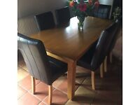French Oak 6 seater Dining Table