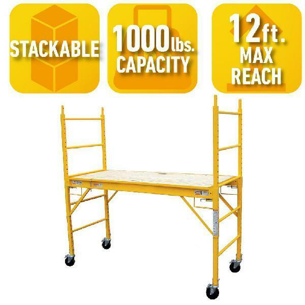 Scaffolding Multipurpose Portable Rolling Drywall Painting Stage Platform 6ft