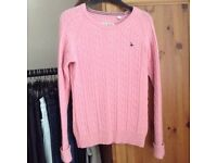 Jack wills pink knitted jumper 12