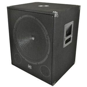 QTX-Sound-QT18SA-18-Active-Powered-Subwoofer-1000W-Disco-DJ-Sub-Bass-Bin-SINGLE