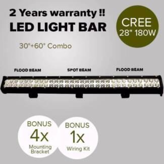 28inch 180W CREE LED Light Bar Spot Flood Light 4x4 Offroad Work
