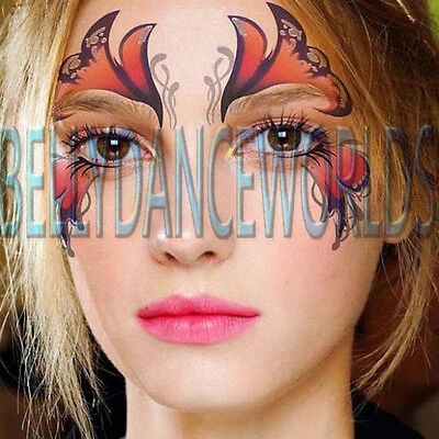 Halloween Eye Makeup Art (FACE EYE TEMPORARY TATTOO HALLOWEEN COSTUME STAGE PARTY MAKEUP BODY ART)