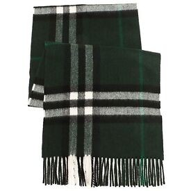 Burberry giant check deep forest cashmere scarf