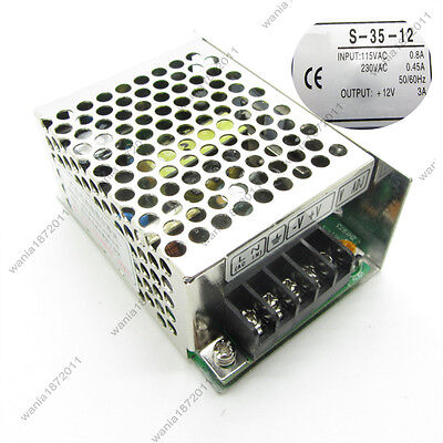Universal Regulated Switching Power Supply Output Dc12v 35w 3a
