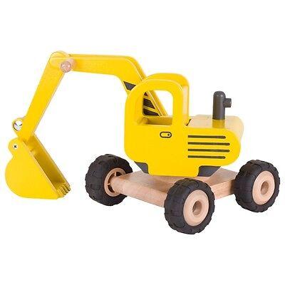 BAGGER Holz-Bagger Baufahrzeug Baustelle Holz Goki