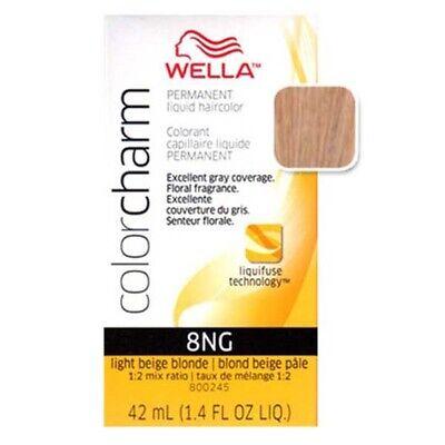 Light Beige Blonde - Wella Color Charm Liquid Haircolor 8NG Light Beige Blonde 1.4 oz