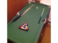 Childs Pool Table with all parts.