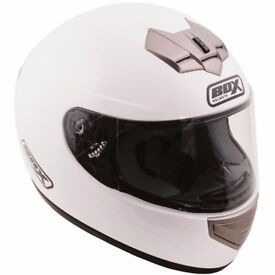 White motorcycle helmet size M, 1 month old, 50% off
