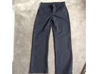 Boys Navy Slimfit school trousers, age 14 Next