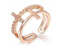 Trendy Rhinestone Decorated Hollow Out Ring For Women