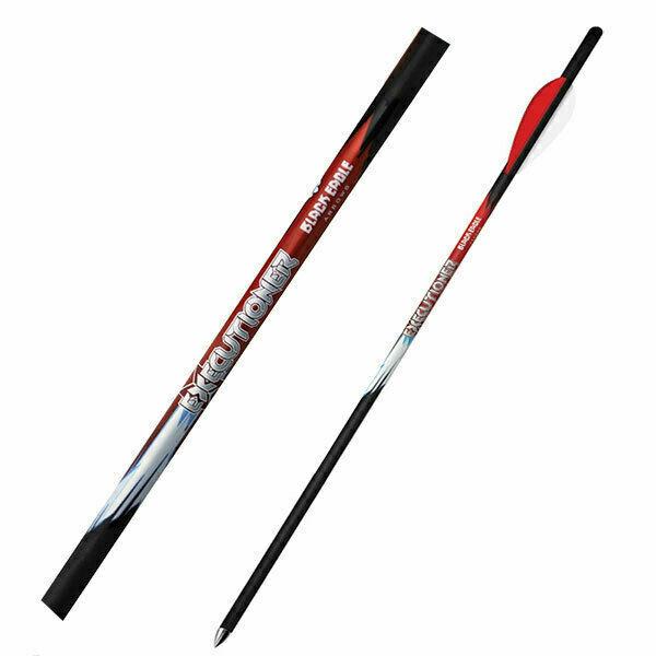 "Black Eagle Executioner Crossbow Fletched Arrows - .001"" 6 Pack - 20"" - 3"" Bohni"