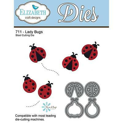 Elizabeth Craft Designs ~ LADYBUGS ~  Metal Die Set  Insects, Baby Lady Bugs - Insect Crafts