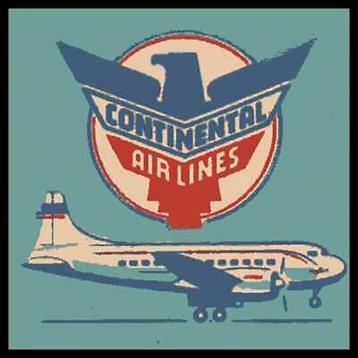 Continental Airlines Convair Liners Fridge Magnet