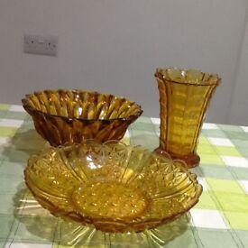 Antique Amber glassware