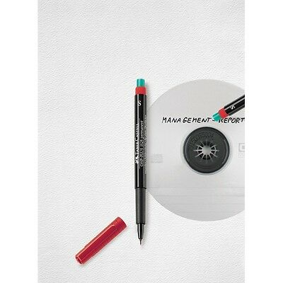 Faber Castell 1523 Permanent Marker Pen With Special Eraser 0.4mm Super Fine Tip