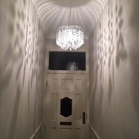 Silver detail large east fit chandelier