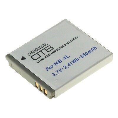 Akku für Canon NB-4L NB4L für Digital Ixus 30 40 50 55 60 65 70 LEGRIA mini