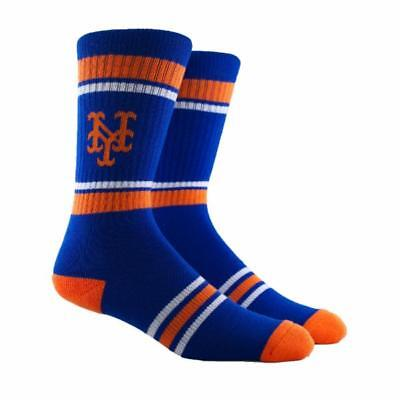 NEW New York Mets MLB Parkway PKWY Blue Stripe Crew Socks Mens Womens Youth