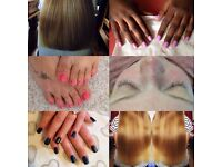 Mobile hairdresser, nail technician and eyelash extensions