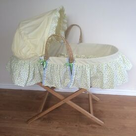 Mothercare Moses Basket including Mattress & Stand.