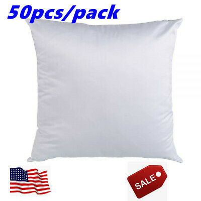 50 Pack White Blank Sublimation Pillow Case Fashion Cushion Cover Heat Transfer