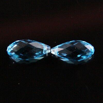 4pcs 10X20mm Swarovski Teardrop  crystal beads E sky-blue