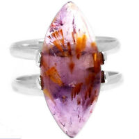 CACOXENITE SUPER 7 MINERAL, MELODY STONE 925 SILVER Ring Sz 9