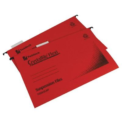 Rexel Crystalfile Flexi Standard Foolscap Red (Pack of 50) 3000042 [TW13773]