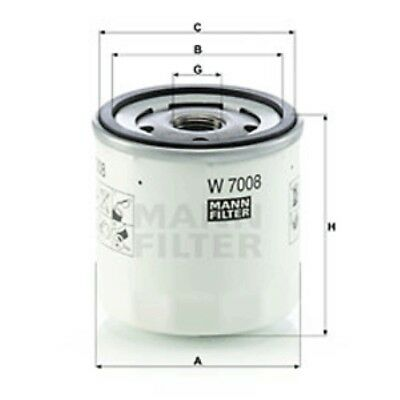 Mann W7008 Oil Filter Spin On 75mm Height 76mm Outer Diameter Service