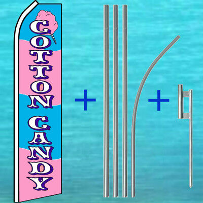 Cotton Candy Flutter Flag Pole Mount Kit Tall Feather Swooper Banner Sign