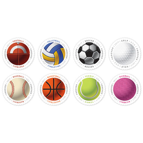 USPS New Have a Ball! Full Pane of 16  8 designs