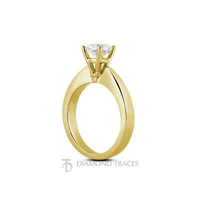 3ct H SI1 Round Earth Mined Certified Diamond 14k Gold Solitaire Engagement Ring - $11,503.00