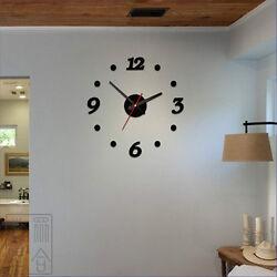 3D DIY Wall Clock Sticker - Modern Art Design Home Office Bedroom Decor