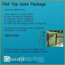 Aluminium Pool Fence Gate Package – Flat Top Yatala Gold Coast North Preview