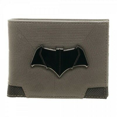 Batman v Superman Dawn of Justice Suit Up Logo Bi-Fold Mens Wallet DC Black Grey - Batman V Superman Suit